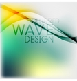 Textured blurred color wave background vector image