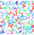 Colorful butterflies set summer seamless pattern vector image