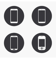 modern smartphone icons set vector image