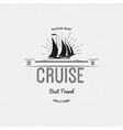 Cruise best travel insignia and labels for any vector image