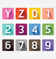 Alphabet colorful Font with Sahdow Style vector image