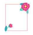 bright postcard with flowers vector image