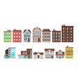 city buildings and townhouse apartment vector image