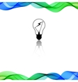 Color background with wave vector image