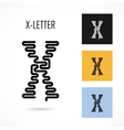 Creative X - letter icon abstract logo design vector image