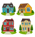 Houses cottage set cartoon exterior design vector image