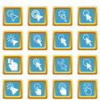 mouse pointer icons azure vector image