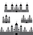 set black castle on white background vector image