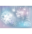silver christmas card colorful vector image