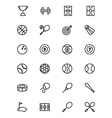 Sports Outline Icons 1 vector image