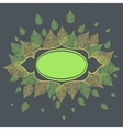 leaves with plase for text vector image vector image