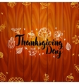 Thanksgiving Day over Wooden Board vector image