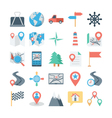 Map and Navigation Colored Icons 2 vector image