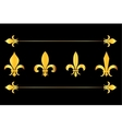 Golden fleur de lys design elements black vector image