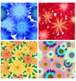 floral backgrounds set vector image vector image