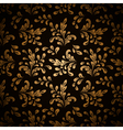 Gold leaves on black vector image vector image
