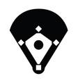 baseball stadium vector image