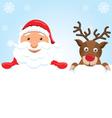 Santa Claus Rudolph vector image vector image