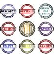 print stamps vector image