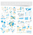 Infographics with data icons world map vector image