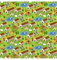 Big farmer pattern vector image vector image