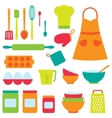 icons collection on baking theme vector image vector image