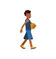 active teen boy palying basketball boy doing vector image