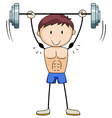 Bodybuilding vector image