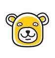 Cartoon animal head icon Bear face avatar vector image