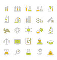chemical signs thin line icon set vector image
