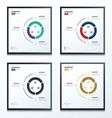 Circle infographic 2 color set vector image