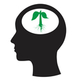Man and thinking and tree vector image
