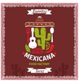 Mexican food poster template design vector image