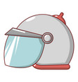 motorcycle helmet scooter icon cartoon style vector image