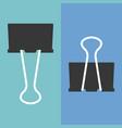 paper clip flat design vector image