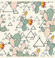 prickly pear cacti and triangles vector image