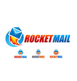 Rocket Mail Logo vector image