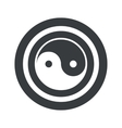 Round black ying yang sign vector image