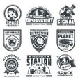 Set of badges space vector image