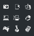 set of gadgets icons vector image