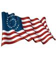 US Civil War Union 37 Star Medalion Flag vector image