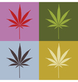 Marijuana leaves vector image vector image