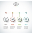 circles with thin lines for infographics vector image vector image
