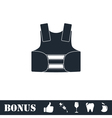 Life vest icon flat vector image