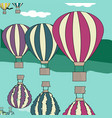 hot air balloon by the river vector image