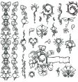 ornate floral elements vector image