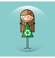 ecological kid design vector image