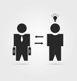black startuper and investor icon vector image