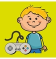 boy control game icon vector image
