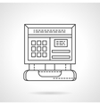 Computer diagnostic flat line icon vector image